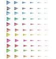 colorful arrows ready for animation vector image vector image