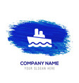 cruise icon - blue watercolor background vector image