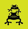 Cute Frog vector image vector image