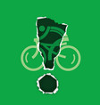 cycling icon with exclamation mark vector image vector image