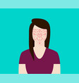 facial recognition women with face tracking point vector image vector image