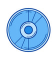 film reel line icon vector image