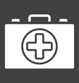 first aid kit box glyph icon medicine vector image
