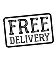 free delivery stamp on white vector image vector image