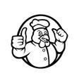 fried chicken restaurant mascot logo template vector image vector image
