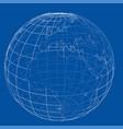 globe contour rendering 3d vector image