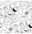 Graphic pattern with pumpkins vector image