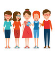 group of teachers cartoon vector image