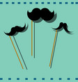 hipster image with mustache colorful photo vector image vector image