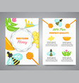 honey newsletter with flat honey elements poster vector image