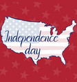 inscription independence day flag and map of the vector image