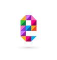 Letter E mosaic logo icon design template elements vector image vector image