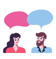 man and woman talking poster vector image