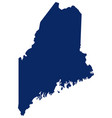 map maine in blue colour vector image vector image
