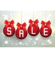 Merry Christmas sale poster with balls vector image vector image