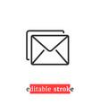 minimal editable stroke mail icon vector image