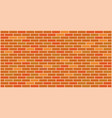 orange yellow brick wall texture vector image