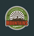 outdoor adventure mountains camping and hiking vector image vector image