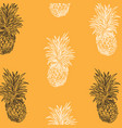 pineapple sketch seamless background vector image vector image