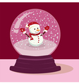 Purple Snowman Snow Ball vector image
