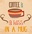 Retro background with coffee quote vector image vector image