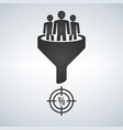 sales funnel line icon internet marketing vector image vector image