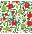 Seamless pattern of pomegranate and apple tree vector image
