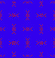 seamless pattern on the purple background vector image vector image
