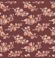 seamless pattern with blooming magnolia buds vector image vector image