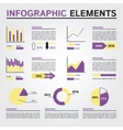Set of Infographics Elements Yellow and Violet vector image vector image