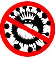 sign caution coronavirus stop coronavirus vector image