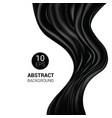 silk black silky fabric and elegant dark vector image