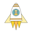 Spaceship with Boy in Porthole vector image vector image
