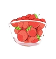 Strawberries in cup vector image vector image