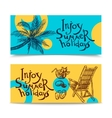 Summer Beach Banners vector image