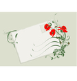summer card with poppies vector image vector image