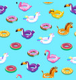swimming toys seamless pattern pool floating vector image vector image
