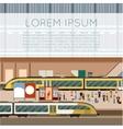 Train big station vector image vector image
