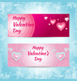 valentine hearts banner vector image vector image