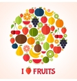 Vegetarian food background vector image