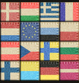 vintage europe patchwork pattern vector image