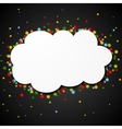 White blank paper cloud with colorful stars vector image