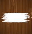 White paint on a wooden surface vector image vector image