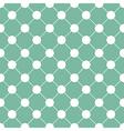 White Polka dot Chess Board Grid Green vector image