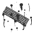 Black and white concept keyboard background vector image