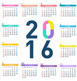 2016 square calendar vector image vector image