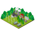 3d design for power station in the mountains vector image