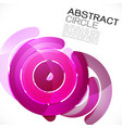 abstract colorful shiny circle or ring vector image