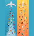 airplane travel amp tourism narrow banners in vector image