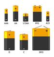 batterys components set vector image